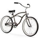 """24"""" Firmstrong Urban Man Single Speed Beach Cruiser Bicycle, Matte Grey"""