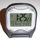 ALARM CLOCK SNOOZE/LIGHT/SECONDS/MONTH/DATE/DAY/TEMPERATURE USES 2 AAA BATTERIES