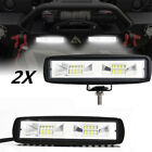 """2x 6"""" 48W LED Work Light Bar Driving Fog Lamp Universal For Offroad 4WD ATV Boat"""