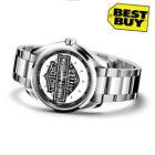 Harley Davidson silver emblem Sport Metal Watch