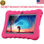 "7"" 16GB Android 7.1 Quad Core Dual Camera WIFI 3G Tablet PC For Kids Bundle Case"