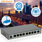 130W 8 Ports 7PoE Injector Power Over Ethernet Switch IP Cameras 802.3af US W2I3