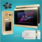 """HOMSECUR 7"""" Wired Hands-free Video Door Entry Phone Call System Golden Camera"""