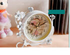 A01 Originality Iron Art Mute Living Room Bedroom Office Desk Clock Ornament O