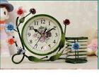 A17 Originality Iron Art Mute Living Room Bedroom Office Desk Clock Ornament O