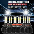 H11+9005+9145 LED Headlight Hi/Low Beam+Fog Light Bulbs For Ford F-150 2015-2017