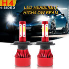 CREE H4 LED Headlight Kit 1800W 270000LM Hi-Lo Beam Bulbs 6000K White High Power