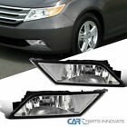 Fit 11-13 Honda Odyssey Clear Fog Lights Driving Bumper Lamps w/ Switch+Bulbs
