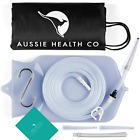 Aussie Health Co Non-Toxic Silicone Enema Bag Kit. 2 Quart. BPA & Phthalates for