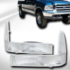 Fits 99-04 Ford F250/F350/Expedition Chrome Signal Parking Bumper Corner Lights