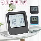 Digital LCD Travel Folding Desk Alarm Clock Timer w/ Snooze Calendar Thermometer