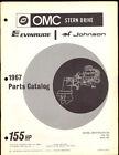 1967 EVINRUDE / JOHNSON STERN DRIVE PARTS MANUAL  155HP
