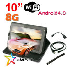 """starPad 10.2"""" Capacitive Touch Screen Tablet PC Leather Case Stylus Android 4.0"""