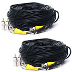 2x50ft CCTV Security Camera Cable BNC Video Power DVR Surveillance Wire Cord 1q6