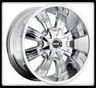 "17"" MKW OFFROAD M82 CHROME RIMS & NITTO LT295-70-17 TRAIL GRAPPLER TIRES WHEELS"