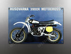 VINTAGE HUSQVARNA 390CR MOTOCROSS IMAGE BANNER NOS IMAGE REPRODUCTION