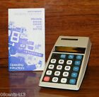 Vintage Commodore (886D) Electronic Scientific Calculator & Instructions