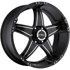 17x8.5 Black V-Tec Wizard 5x4.5 +12 Rims Federal Couragia MT 285/70/17