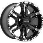 17x9 Black Ballistic Wizard 6x5.5 +12 Wheels Nitto Mud Grappler 33x12.50R17LT