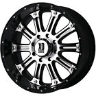 16x8 Machined Black XD XD795 Hoss 6x5.5 +0 Rims All Terrain 265/75/16