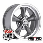 "15x8"" Retro Wheel Designs Gray Rims 5x4.50"" for Mercury Rwd Cars"