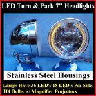 Turn Signal Running Light 36 LED Dietz Stainless Headlights Streetrod Custom 4x4