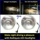 "7"" LED Headlights Super Bright White Maxtel Head Lamps Upgrade Conversion - 5"
