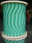 "NovaTech XLE Halyard Sheet Line, Dacron Sailboat Rope 5/16"" x 50' Green/White"