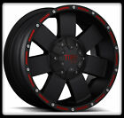 "16"" X 8"" TUFF T02 WHEELS BLACK RIMS W/ LT255/70/16 BFGOODRICH M/T KM2 TIRES"