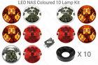 10 RDX LUX LED REAR NAS Lights kit Plinths Relay LandRover 90/110 Defender