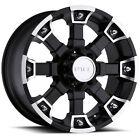 17x8 Matte Black V-Tec Brutal  5x5 +6 Rims Nitto Terra Grappler 235/80/17 Tires