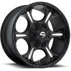 17x9 Black Fuel Dune D523 5x5 & 5x5.5 -12 Rims Xtreme AT 265/70/17