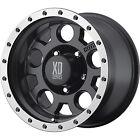 18x9 Black XD XD125 6x5.5 +18 Rims Nitto Terra Grappler 255/55R18 Tires