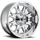 20x9 Chrome Fuel Throttle D519 8x180 +1 Rims Nitto Trail Grappler 295/55/20