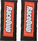 """Racequip 767001 Fire-Retardant Black Harness Cotton 3.0"""" Width Pads RACEQUIP"""