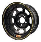 "Aero Race Wheels 50-104720 Black Powdercoat 50 Series  Roll-Formed 2"" Backspace"