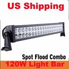 120W LED Work Light Bar Alloy Spot Flood Combo Diving HID Offroad 4WD SUV Truck