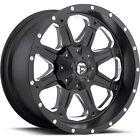 17x9 Black Fuel Boost 8x6.5 -12 Rims Nitto Terra Grappler LT295/70R17 Tires