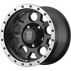 17x9 Black XD XD125 6x135 +18 Rims W/ Federal Couragia MT LT285/70R17 Tires New