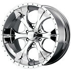 17x9 Chrome Helo HE791 5x5.5 -12 Wheels Federal Couragia MT LT285/70R17 Tires
