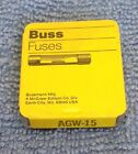 BUSS FUSES AGW 15 AMP FUSE OLD NEW STOCK pack of 5 brand new