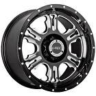 18x9 Black V-Tec Rage  5x5 -12 Rims Toyo Open Country AT II LT285/65R18 Tires