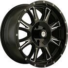 18x9 Black Mayhem Hammer  6x5.5 -12 Rims Nitto Trail Grappler 275/70/18 Tires