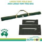 Heavy Duty Large Tent Pole Bag and Large Tent Peg Back - 160cm x 10cm x 10cm