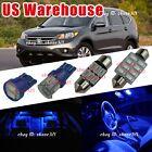 10x Pure Deep Blue LED Lights Interior Package MAP Kit bulb For 07-12 Honda CR-V