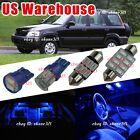 8x Pure Deep Blue LED Lights Interior Package Inside Kit For 97-01 Honda CR-V