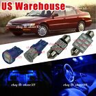 12x Pure Blue Light Interior LED Package Kit For 94-97 Honda Accord Coupe Sedan