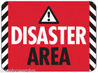 funny man cave sign plastic DISASTER AREA WARNING CAUTION humorus gift christmas