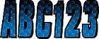 Letter Registration Kit Letter Number Sticker Decals Boat PWC Blue Black Reg