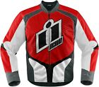 Icon Overlord 2 Street Sportbike Textile Motorcycle Jacket XL Red